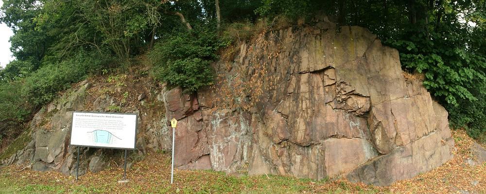 Geologische Wand Elmenthal bei Trusetal