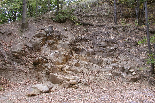 Steinbruch im Rätsandstein an der Schlossleite