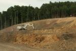 Aufschluss beim Autobahnbau A4