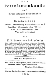 Schlotheim (1820): Petrefactenkunde