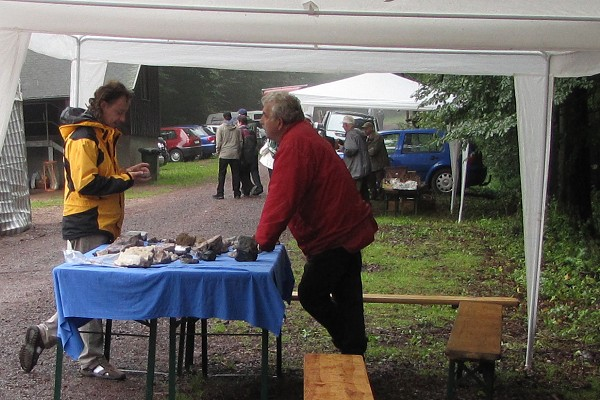Geopark-Stand zum Waldfest in Brotterode
