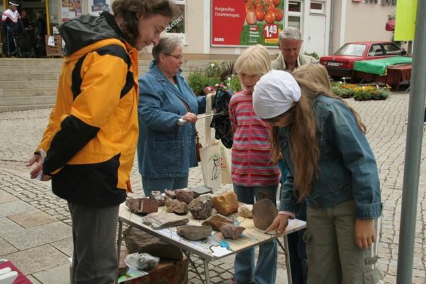 GeoPark-Stand zum Naturpark- und Stadtfest in Ruhla im Juni 2008