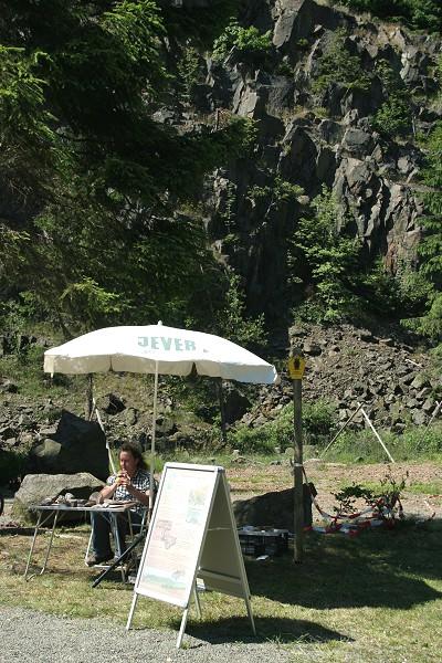 GeoPark-Stand auf dem Traditionellen Bergseefest auf der Ebertswiese am 27.06.2010