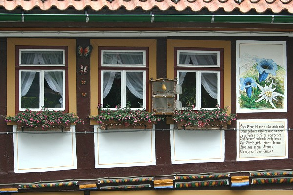 Detail am Haus in der Köhlergasse in Ruhla