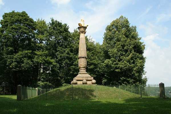 Kandelaber bei Altenbergen - ein Denkmal für die erste christliche Kirche in Thüringen