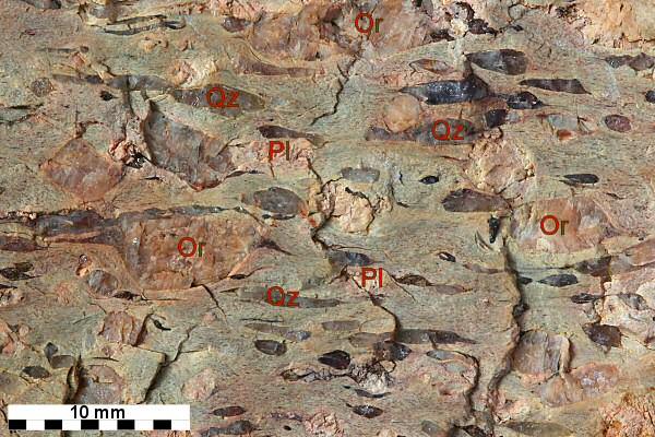 Der Granitporphyr von Thal-Heiligenstein und sein auffällig deformiertes Gefüge.