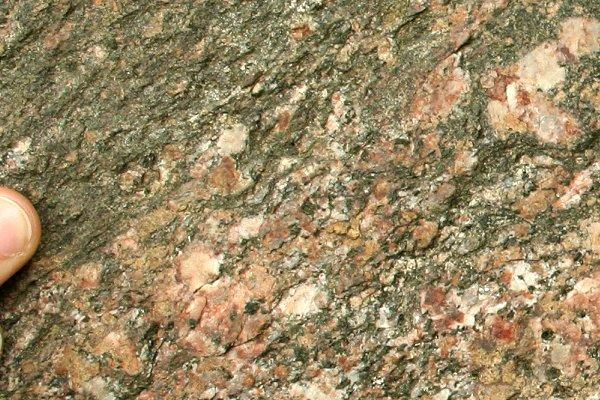 Nebengestein des zusammengesetzen Gang der Geologischen Wand Elmenthal