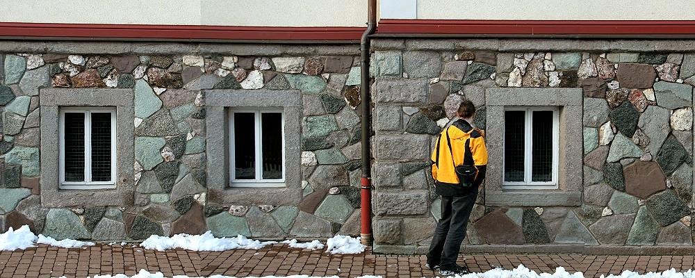 Brotteröder Gesteine an einer Hauswand in Brotterode