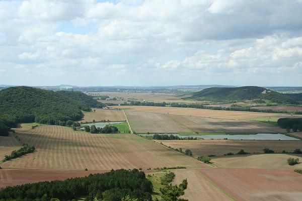 Blick von der Wachsenburg in das Gleichental