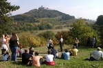 Exkursion auf der Burgenroute - Blick auf die Wachsenburg