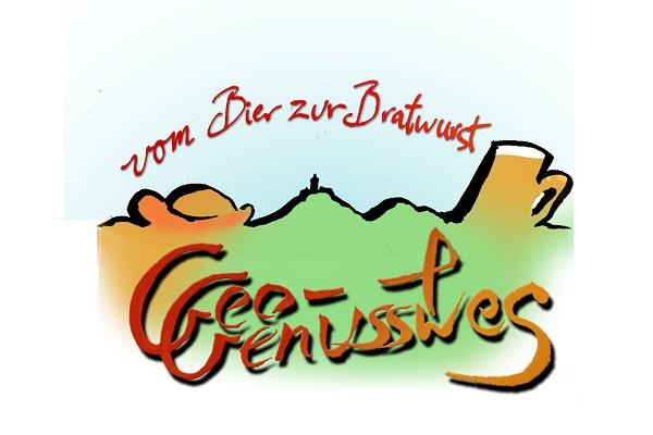 """Logo Geo- und Genussweg """"Vom Bier zur Bratwurst"""""""