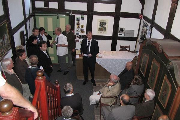 Eröffnung der Sonderausstellung zum Leben und Wirken des Ruhlaer Ehrenbürgers Prof. Rudolf Meinhold im September 2009