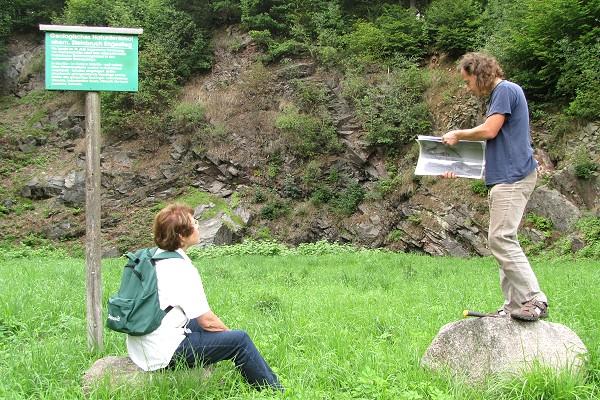 Exkursion zum Geotop Engestieg