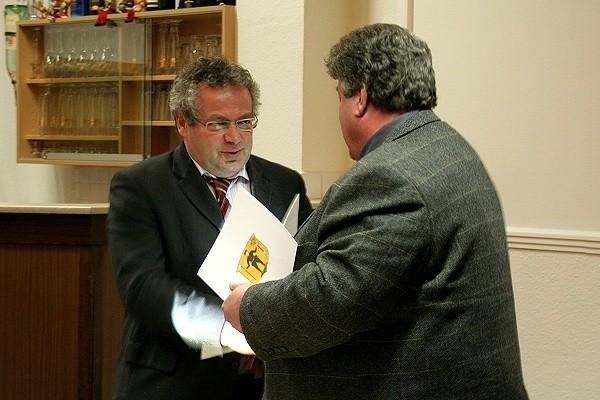 Übernahme der Schirmherrschaft über den Geopark durch Minister Trautvetter am 17.03.2008