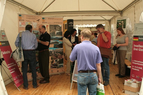 1. Internationales Geoparktreffen in Osnabrück im Juni 2008