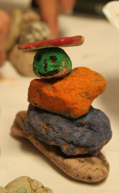Steinfigur aus Apfelstädt-Kies-Steinen
