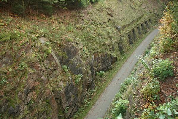 Mommelstein-Radweg bei Trusetal