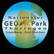 """Das Logo symbolisiert das Motto des Geoparks """"Auf den Spuren von Pangäa"""""""